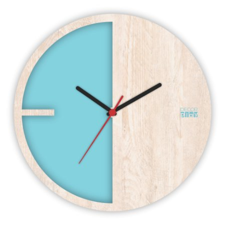 Relógio de Parede ColorClock Meia Lua Azul