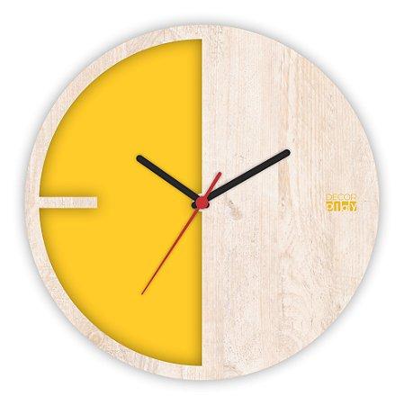 Relógio de Parede ColorClock Meia Lua AMARELO