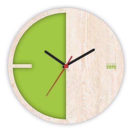 Relógio de Parede ColorClock Meia Lua VERDE
