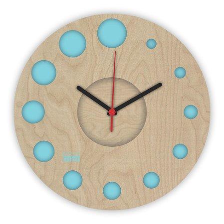 Relógio de Parede ColorClock Círculos AZUL