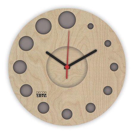 Relógio de Parede ColorClock Círculos CINZA