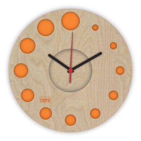 Relógio de Parede ColorClock Círculos LARANJA