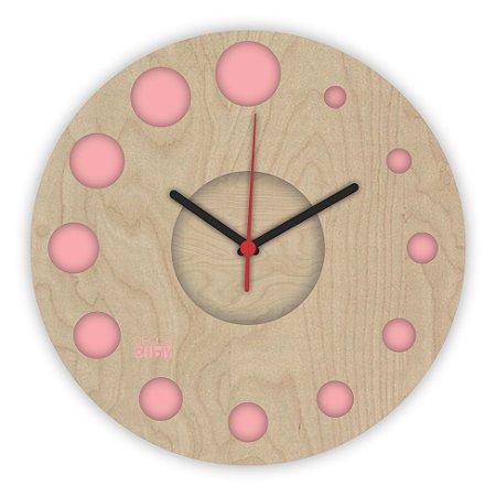 Relógio de Parede ColorClock Círculos ROSA
