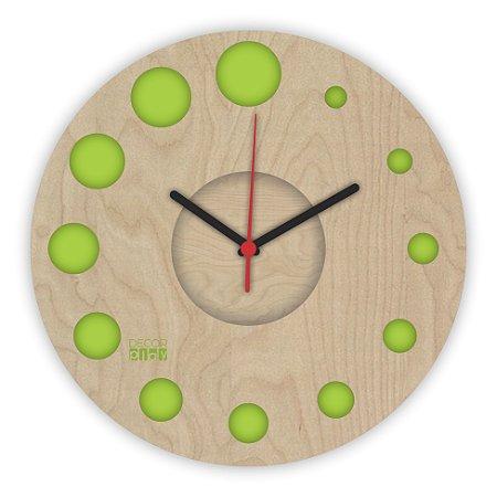 Relógio de Parede ColorClock Círculos VERDE
