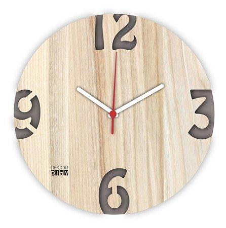 Relógio de Parede ColorClock Números CINZA