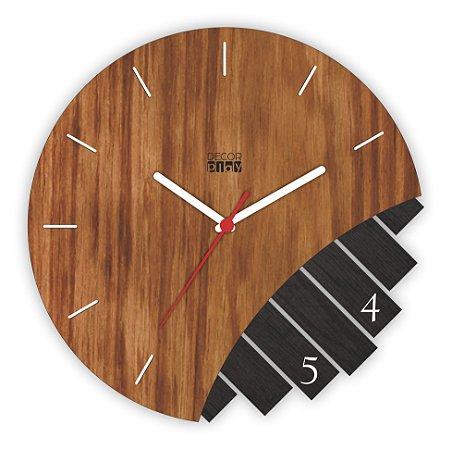 Relógio de Parede Wooden Clock 01