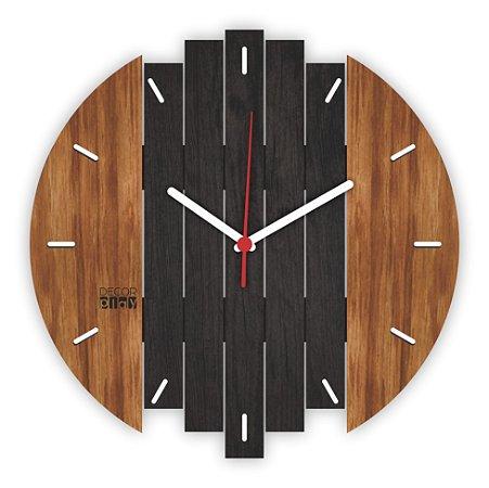 Relógio de Parede Wooden Clock 02