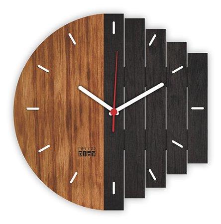 Relógio de Parede Wooden Clock 03