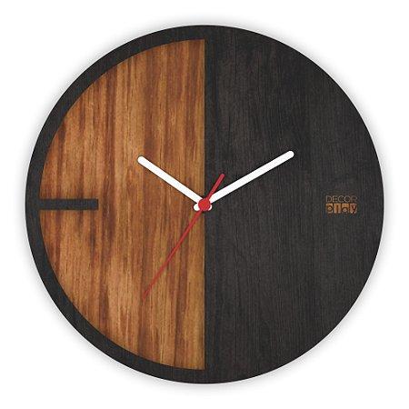 Relógio de Parede Wooden Clock 04