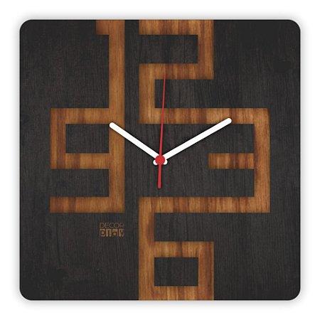 Relógio de Parede Wooden Clock 05