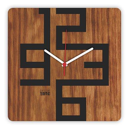 Relógio de Parede Wooden Clock 06