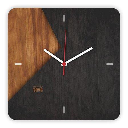 Relógio de Parede Wooden Clock 07