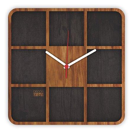 Relógio de Parede Wooden Clock 08