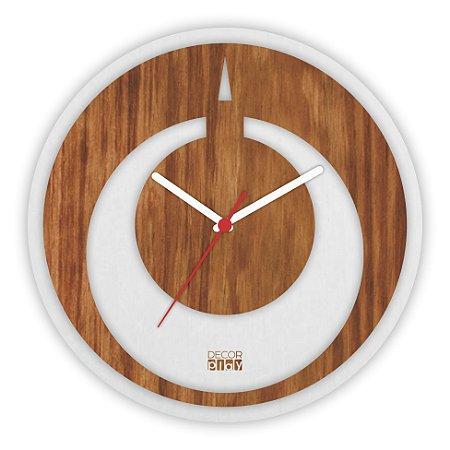 Relógio de Parede Wooden Clock 11