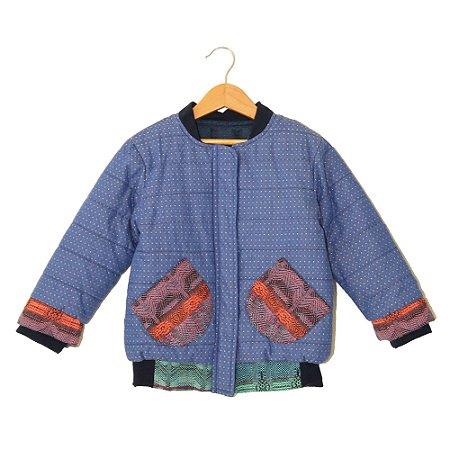 Jaqueta tecido - Bodo.A - Azul com colorido