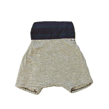 Shorts saruel - Solta . A - Listras com marinho
