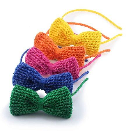 Tiara Laço GG Farfalle Crochet - 13 Cores