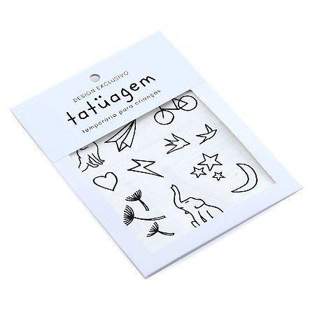 Tatuagem Temporária para Crianças - Traçado