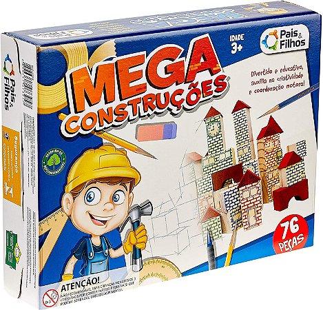 Jogo Mega Construções com 76pcs