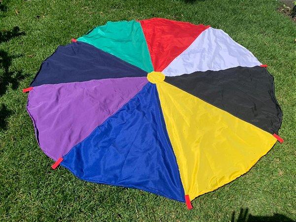 Paraquedas Funcional com 2 metros  de diâmetro.