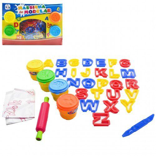 Kit Massinha com Alfabeto 27 peças
