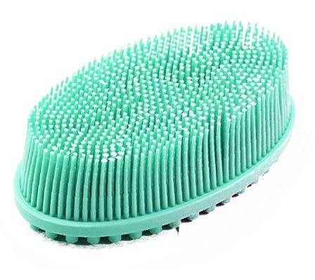 Escova sensorial de silicone verde