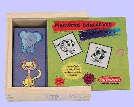 Jogo de Memória Bichos