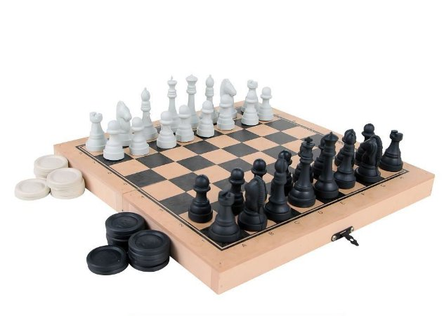 Jogo de Xadrez e Dama Colegial