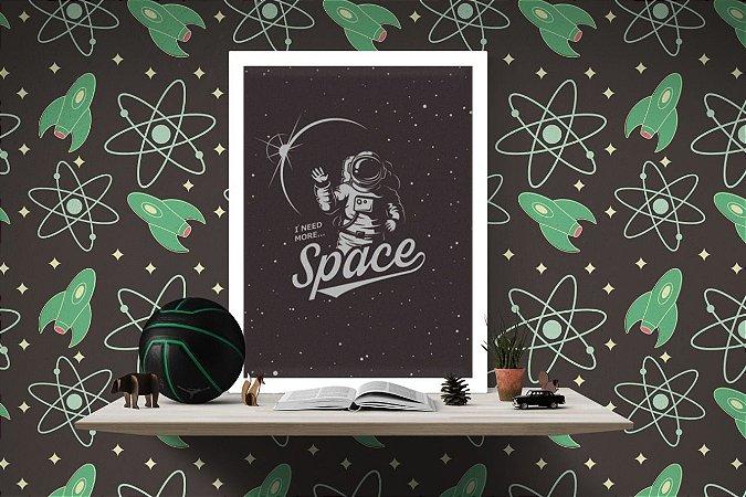 Quadro Decorativo para Quarto  Temático Space Astronaut