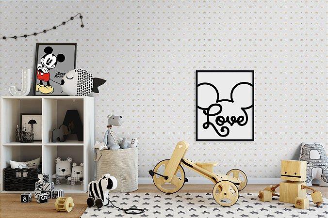 Quadros Decorativos Para Quartos Infantis Disney Love