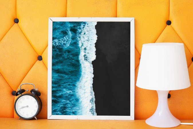 Quadro Decorativo Black Sand Beach