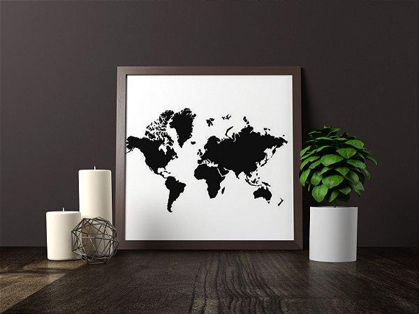 Quadro Decorativo Para Móveis e Prateleiras Clean Map Art