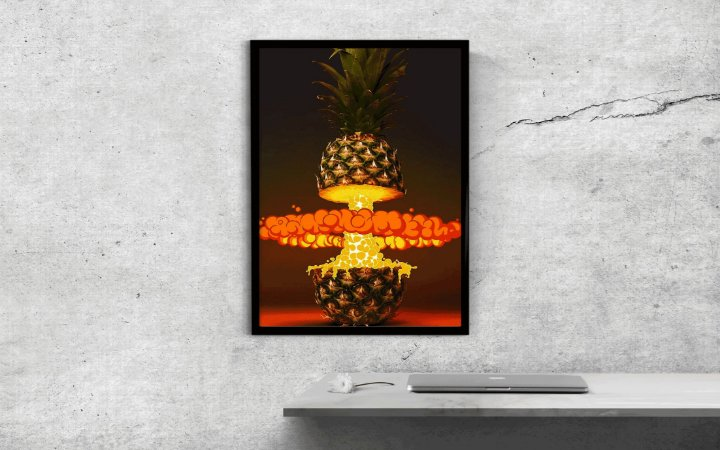 Quadro Decorativo Pineapple Explosion