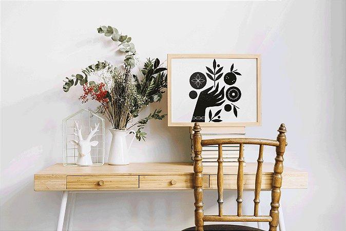 Quadro Decorativo Virgo Letterpress