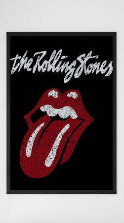 Quadro Decorativo The Rolling Stones Logo