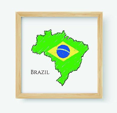 Quadro Decorativo Juvenil País Brazil