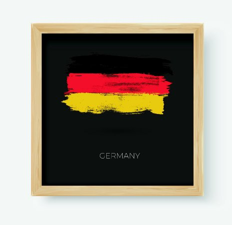 Quadro Decorativo Juvenil País Germany