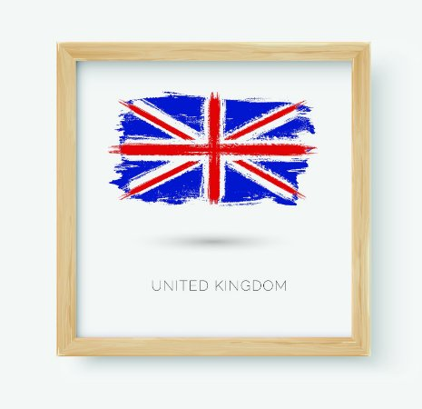 Quadro Decorativo Juvenil País United Kingdom