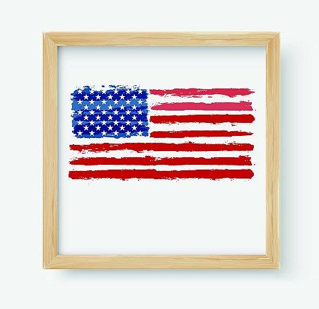 Quadro Decorativo Juvenil País United States of America