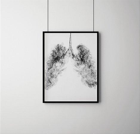 Quadro Decorativo Abstrato Smoke Lung