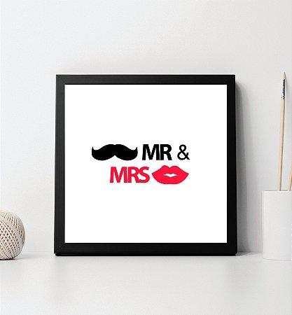 "Quadro decorativo ""Mr&Mrs"""