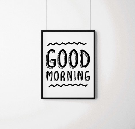 "Quadro decorativo ""Good morning"""