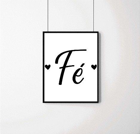 """Quadro decorativo """"Fé"""""""