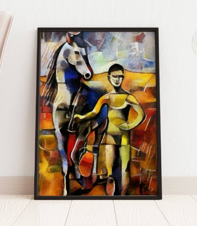 Quadro Decorativo Alternative Reproduction Of A Famous Picasso Painting