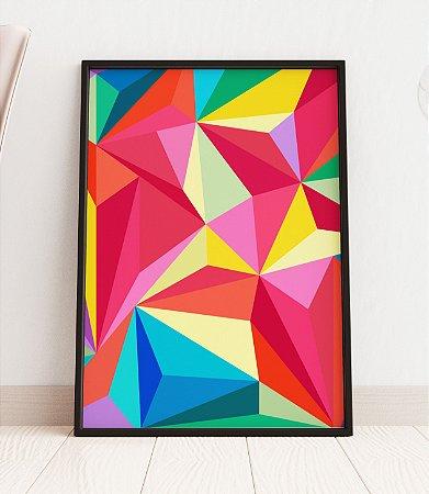 Quadro Decorativo Triangle Abstract Background