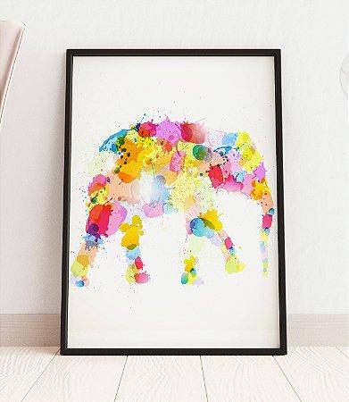 Quadro Decorativo Illustration Of An Abstract Elephant
