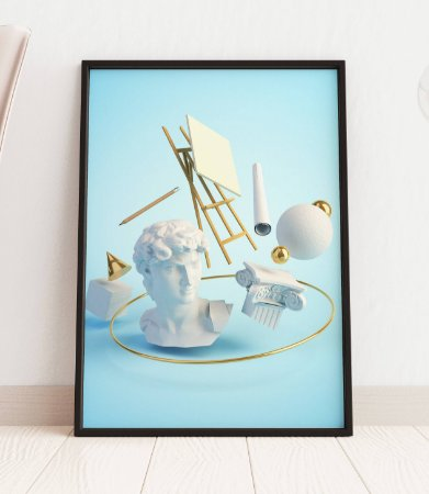 Quadro Decorativo 3D Illustration Concept Of The Renaissance Art