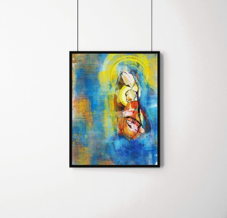 Quadro Decorativo Abstrato Blessed Virgin Mary With Baby Jesus