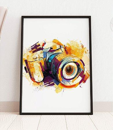 Quadro Decorativo Abstract Sketchy Camera