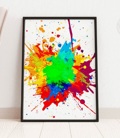 Quadro Decorativo Abstract Paint Color Design Background